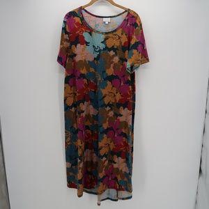 Womens Lularoe Abstract Tunic Dress Size L